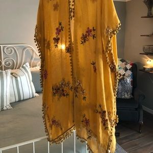 Tops - Yellow shawl/vest